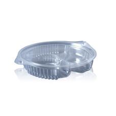 Упаковка для салатов трехсекционная ПС-481 на 500 мл, 450 шт/уп