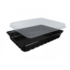 Упаковка для суши ПС-61 (дно черное), 180 шт/уп
