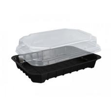 Упаковка для суши ПС-63 (дно черное), 380 шт/уп