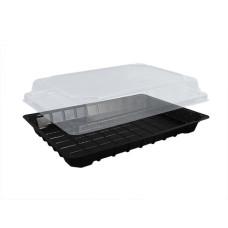 Упаковка для суши ПС-64 (дно черное), 400 шт/уп
