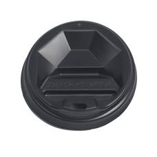 Крышка черная Т-69 для бумажного стакана 185 мл 50 шт/уп