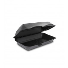 Одноразовая упаковка ланч-бокс HP-10 черный (240х155х70), 250 шт/уп