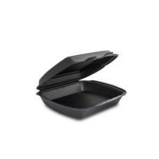 Одноразовая упаковка ланч-бокс HP-1 черный (240х210х70), 125 шт/уп