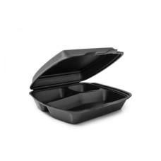 Одноразовая упаковка ланч-бокс HP-3 черный (240х210х70), 125 шт/уп