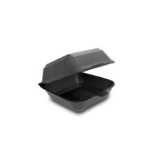 Одноразовая упаковка ланч-бокс HP-6 черный (150х150х70), 250 шт/уп