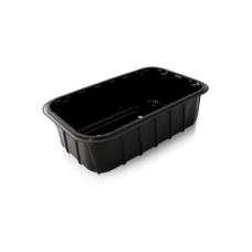 Одноразовая упаковка для ягод, овощей, фруктов, грибов ПП-702 черная, 900 шт/уп