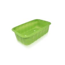 Одноразовая упаковка для ягод, овощей, фруктов, грибов ПП-702 зеленая, 900 шт/уп
