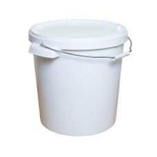 Ведро пищевое пластиковое белое 20 л, 20 шт/уп