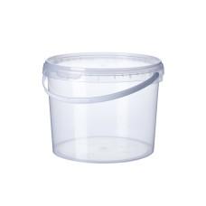 Ведро пищевое прозрачное с ручкой 5 л, 25 шт/уп