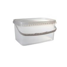Ведро прямоугольное для пищи 5.5 л, 20 шт/уп