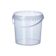 Ведро прозрачное Vital Plast с широкой ручкой 1 л
