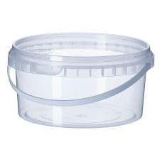 Ведро прозрачное Vital Plast с широкой ручкой 500 мл